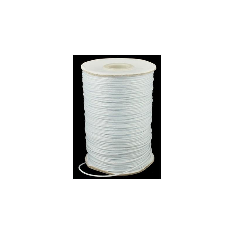 Fil polyester ciré blanc 1mm x 1m