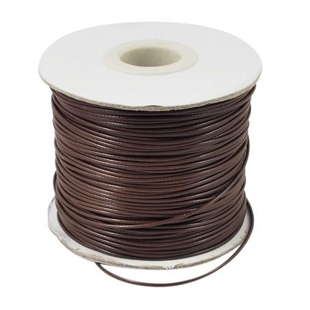 Fil polyester ciré marron 1mm x 1m