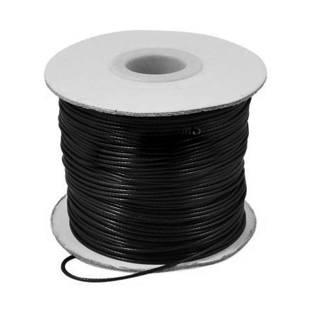 Fil polyester ciré noir 1mm x 1m