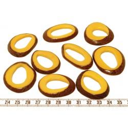 Tagua donut jaune x1