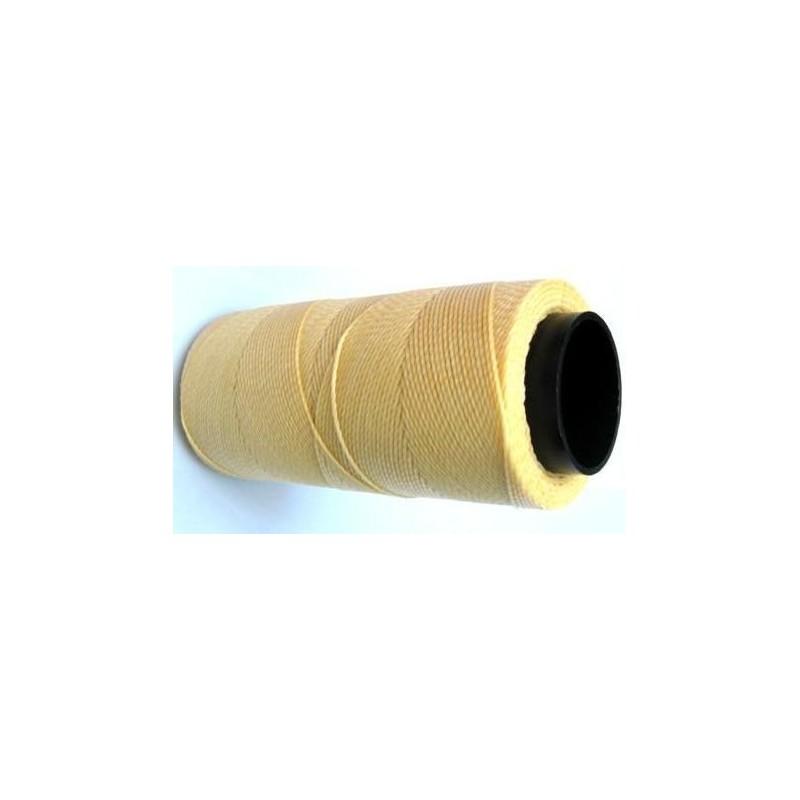 Fil polyester ciré jaune pastel 1mm x 1m