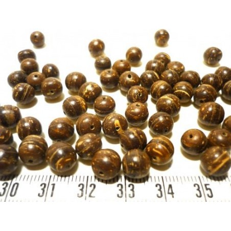 Coco perle 8mm marron