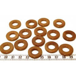 Tagua anneau marron x1