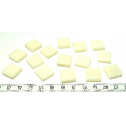 Tagua carre 15mm blanc