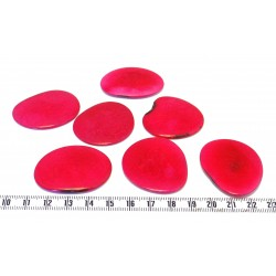 Tagua lame grande rouge