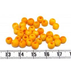 Tagua Perlen 5mm rot X 1