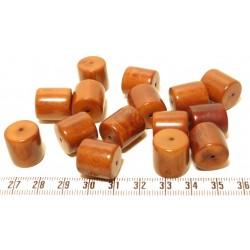 Tagua cylindre marron x1