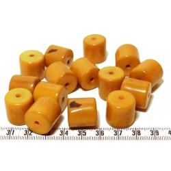 Tagua cylindre orange x1