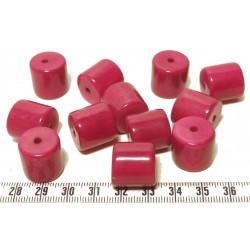 Tagua cylindre rose x1