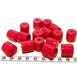 Tagua cylindre rouge x1