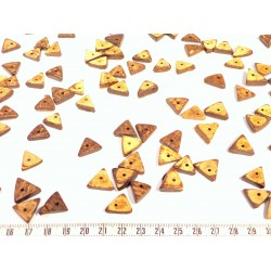 Коко кольцо 07-08 мм бежевый/коричневый x 1