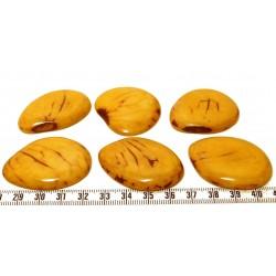 Tagua lame marbrée grande jaune x1