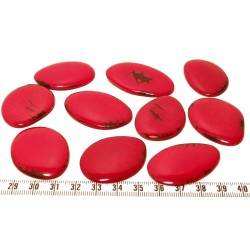 Tagua lame marbrée moyenne rouge x1