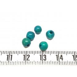 Tagua perle  5mm vert émeraude