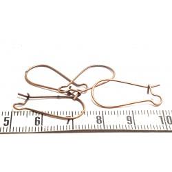 Support boucle d oreille crochet couleur cuivre x2