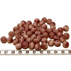 Tagua perle jaune 9mm  x1