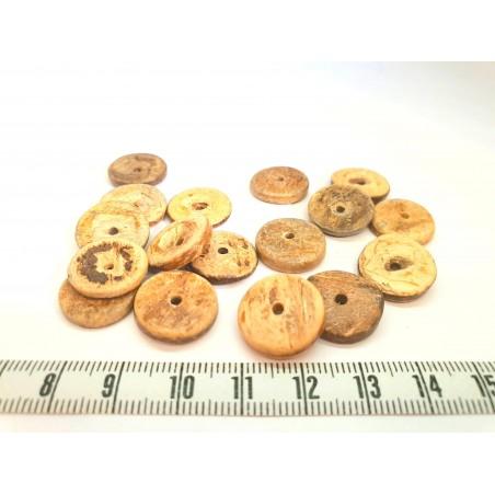 Coco disque 15mm marron