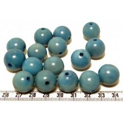 Tagua perle bleu 15mm  x1