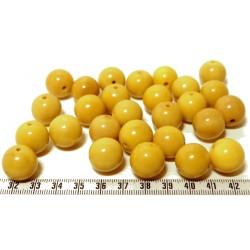 Tagua perle jaune 15mm  x1