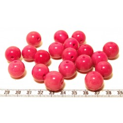 Tagua perle rose 15mm  x1