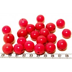 Tagua perle rouge 15mm  x1