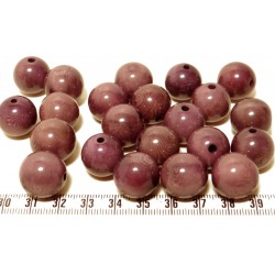 Tagua perle violet 15mm  x1