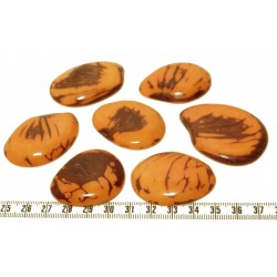 Tagua lame marbrée grande orange x1