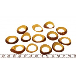 Tagua donut petit bleu x1