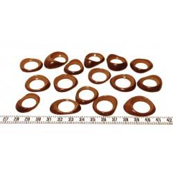 Tagua donut petit jaune x1
