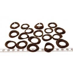 Tagua donut petit marron x1