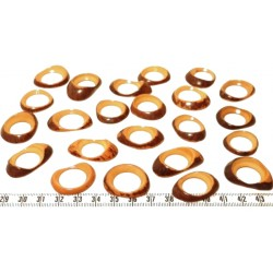Tagua donut petit noir x1