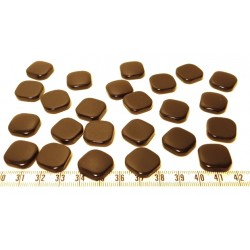 Tagua carre 15mm marron x1