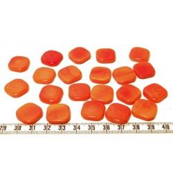 Tagua carre 15mm orange x1