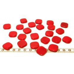 Tagua carre 15mm rouge x1