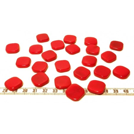 Tagua carre 15mm rouge x1