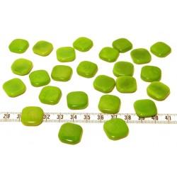 Tagua carre 15mm vert x1