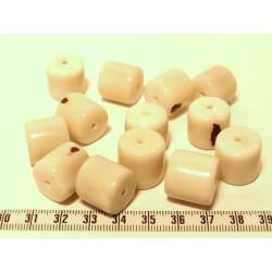 Tagua cylindre blanc x1
