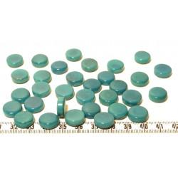 Tagua disque 13mm bleu x1