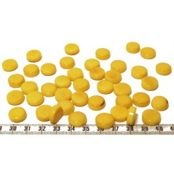 Tagua disque 13mm jaune x1