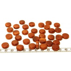 Tagua disque 13mm marron x1