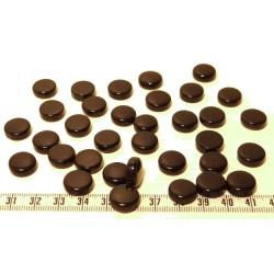Tagua disque 13mm noir x1