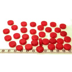 Tagua disque 13mm rouge x1