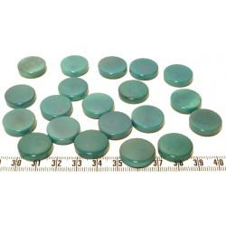 Tagua disque 19mm bleu x1
