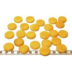 Tagua disque 19mm jaune x1