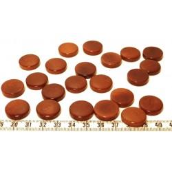 Tagua disque 19mm marron x1