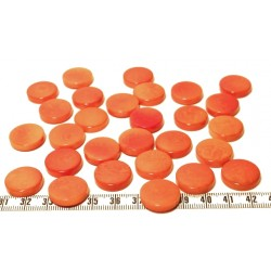 Tagua disque 19mm orange x1
