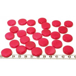 Tagua disque 19mm rose x1