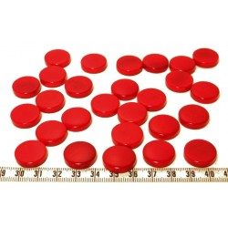 Tagua disque 19mm rouge x1