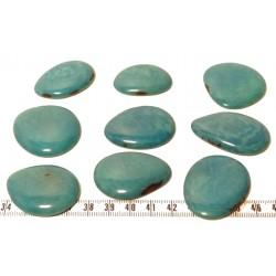 Tagua lame marbrée moyenne bleu x1