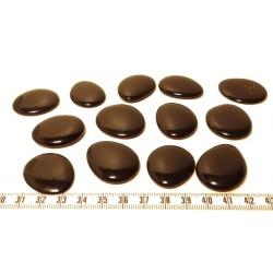 Tagua lame marbrée moyenne noir x1